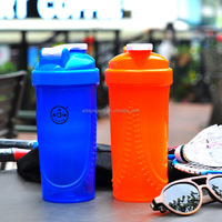 gym protein joyshaker bottle, plastic shaker bottle with mixer ball, bpa free custom logo