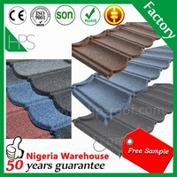 Free sample high quality stone coated metal roof colorful steel roofing tile