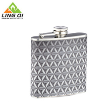 6oz Stainless Steel Hip Whiskey Flask Screw Cap Container For Men