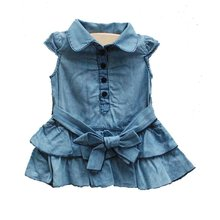 Kids Size3-16 Girls' denim dress