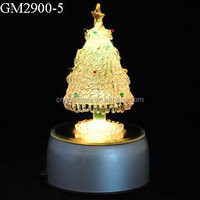 2015 hotsell lovely decorative christimas tree music box with led light