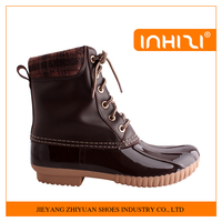 New arrival fashion waterproof rubber duck boots for women