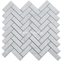 Good Quality Cheap Herringbone Himalaya White Stone Marble Mosaic
