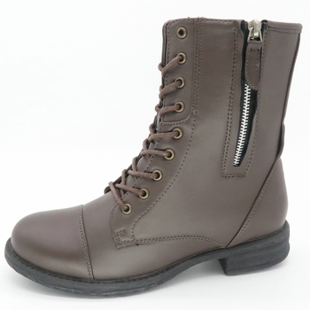 Runtoo stylish high quality handmade shoes gray ladies winter boots
