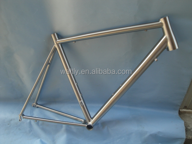 Changeable dropout titanium road bike frame factory