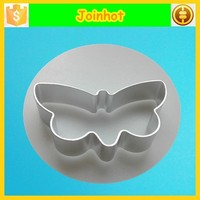 Butterfly shaped aluminum cookie cutter for cake decoration