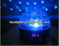 Led Dmx512 6ch RGB Crystal Magic Ball With Digital Displayer Support Sound Activated