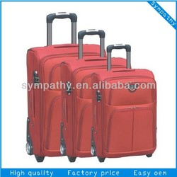 2-wheel trolley luggage case&polyester luggage trolley bag &vip luggage