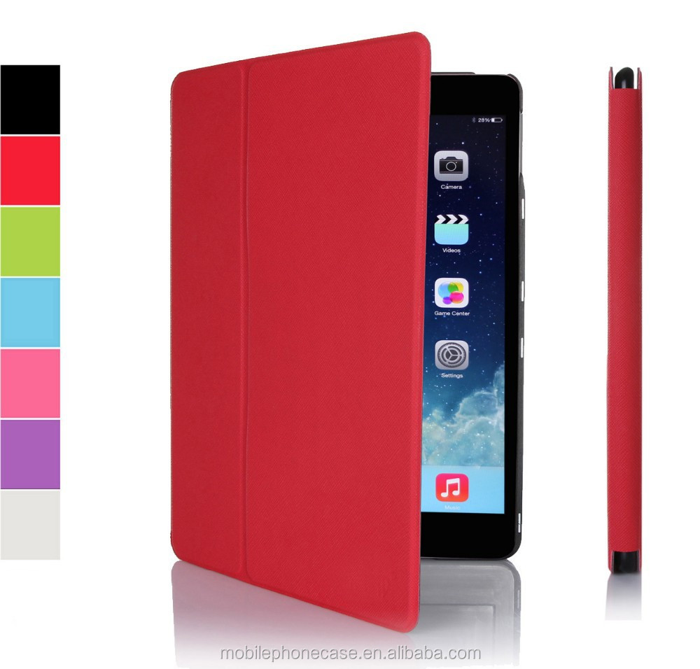 Hot Pressing Ultra slim leather case for Ipad Air 2