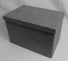 Office Home Gray multipurpose Foldable felt storage box container folder organizer cabinet