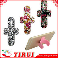 Practical promotional gift sticky one touch u silicone mobile phone stand