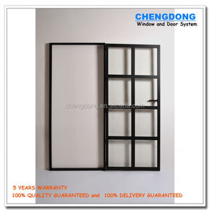 Low Price Bathroom Single 6mm Obscure Glass Sliding Shower Door With Frame