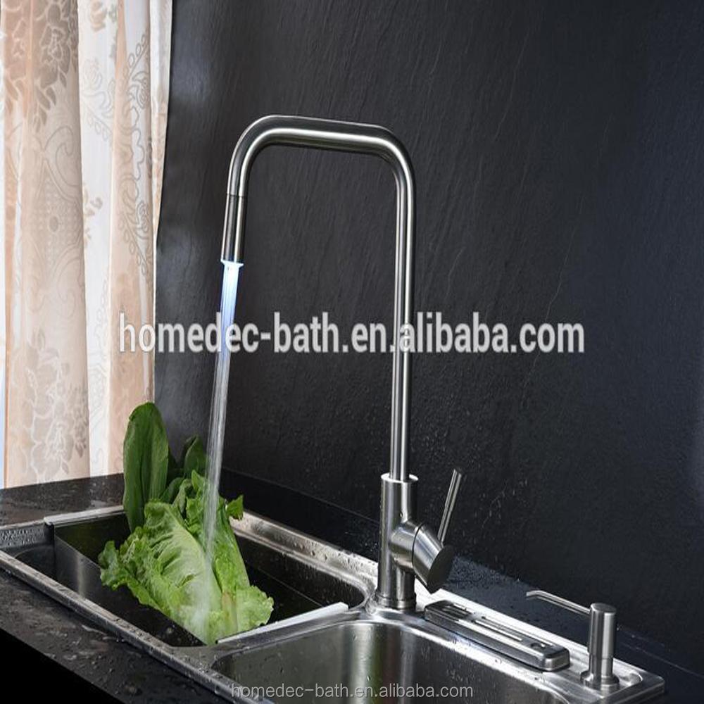 Led Kitchen Faucet Brushed Nickel, Led Kitchen Faucet Brushed Nickel ...