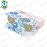 Fashion portable folding paper binocular telescope for outdoor activities, watching events, concerts