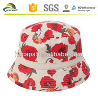 Personalized print pattern safari bucket hats
