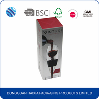 Custom cardboard paper wine glass gift packaging box