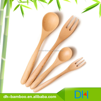 Wholesale High Quality Wooden Dinnerware Beech Spoon and Fork set
