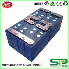 Long cycle life lithium battery pack 12V 240Ah for electric vehicle or solar power system MSPK4S2P