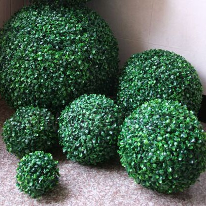 Christmas Artificial Milan Plastic Topiary Grass Ball for Christmas holiday Decoration