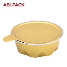 ABL Paking 80ML/2.7oz Sealing Gold Aluminum Foil Container Honey Container Cake Containers