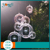 Clear Plastic 2 part Christmas Baubles 7cm Clear Plastic Tree Christmas Ornaments