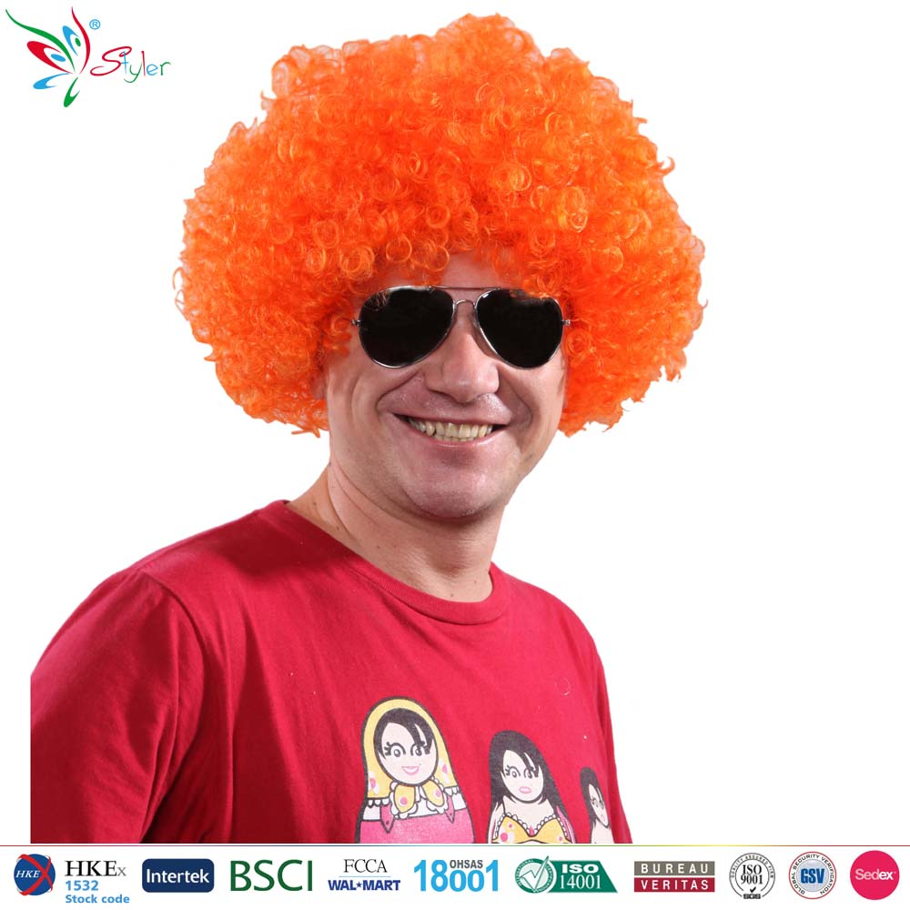 120g party cheap cheering Soccer football fan wig