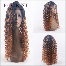 Factory Price Supply Top Quality Natural Brazilian Human Hair Band Fall Ombre Full Lace Wigs Wholesale China