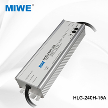 Hot style adjustable 240W 15V waterproof led driver 15A HLG-240H-15A
