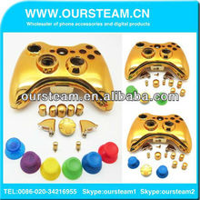 Chrome Housing Shell Faceplate and Buttons for Xbox 360 Modify