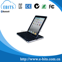 Dual surporting ways 360 degree freely rotatable tablet slot bluetooth keyboard for ipad