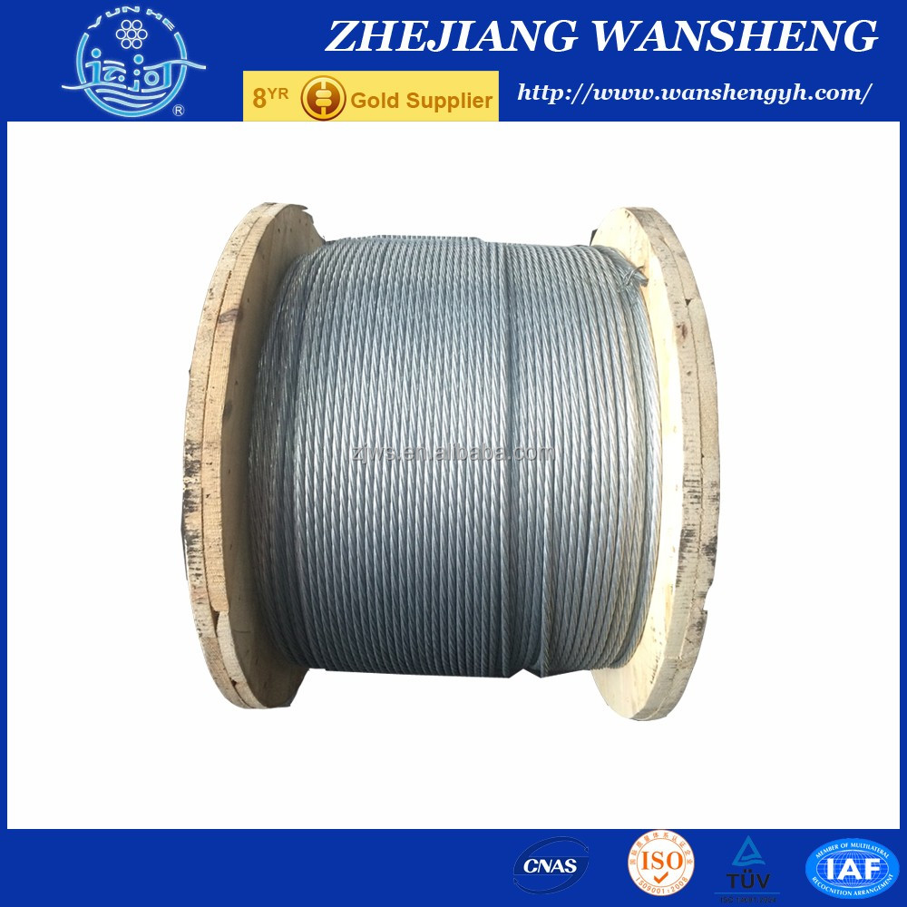 stranded galvanized steel core/core wire/steel wire strand for ACSR 7/1.57MM