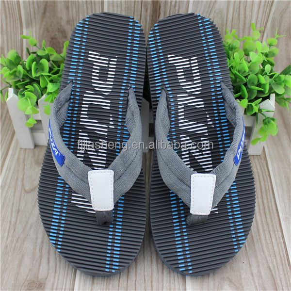 Man style fabric strap massage slippers