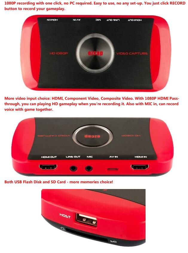 HD Game Capture with Component and Composite ezcap281