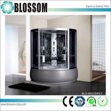 modern luxury grey glass computer controlled steam shower room