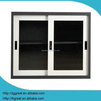Waterproof movable steel file cabinet with 2 sliding glass door