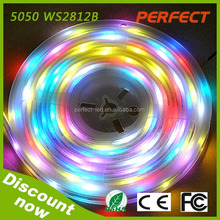 Dream color WS2812B IC rgb5050 digital led strip 300 leds light waterproof &no-waterproof listed UL ROHS&CE