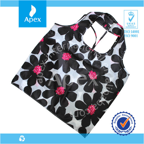 flower reusable euro tote shopping bags