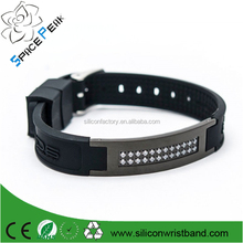 Custom energy balance negative infrared ions magnet titanium power bracelet germanium de iones de titanio pulsera