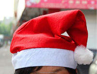 Free shipping High Quality christmas snowman cap adult child Red Christmas Hats Lovely Santa Claus Hat