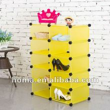 10 grids PP DIY free conbination storage rack multifunction storage cubes HM-X008