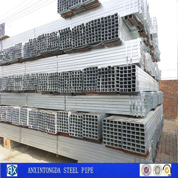 Young hot tube square galvanized pipe/tube for air conditioner parts