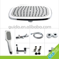 "Modern Rainfall Brass Bathroom Shower Faucet Set 8"" Shower Head"