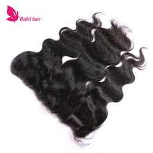 New arrival Indian Raw Unprocessed Virgin Body Wave brazilian hair lace frontal closure