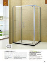 Clearance Price Custom Made rectangle single door free standing glass shower enclosure accessories