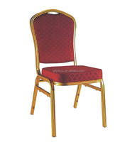 Hot sale cheap hotel stackable party chair aluminum gold banquet chair