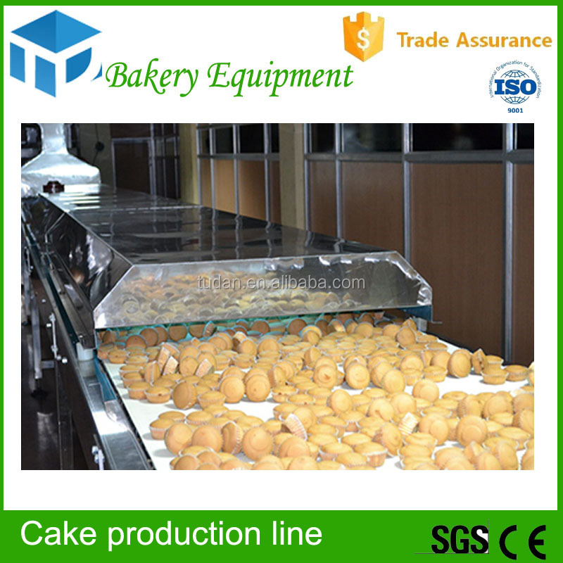 China alibaba agent bakery machines cupcake/muffin/cake cake production line automatic custard cake product line
