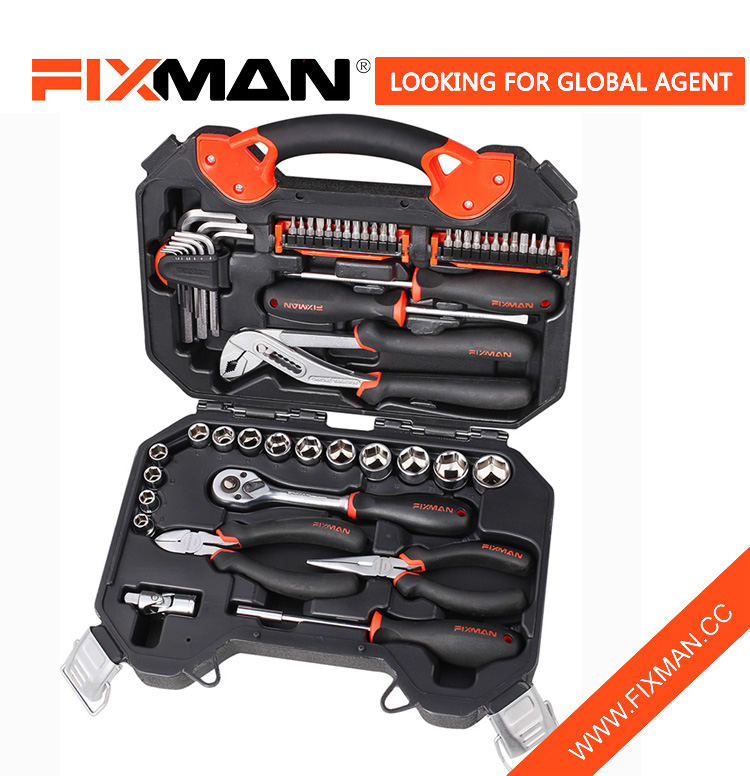"FIXMAN 55-pc 3/8"" Dr Socket Mechanical Tool Set"
