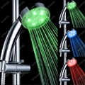 temperature sensor 3 colors shower head led LD8008-A19