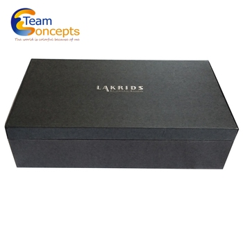 Wholesale Black Eco-friendly Paper Packaging Box