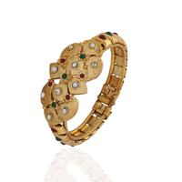 Variation Gold Plated Diamond Bangle For Women